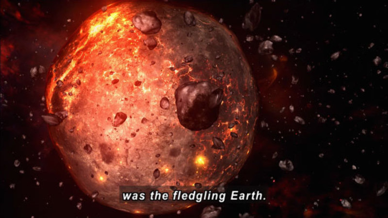 birth of earth Lunar birth: rocks gathered by apollo astronauts hint at earth's violent encounter  with moon's lost parent, theia.