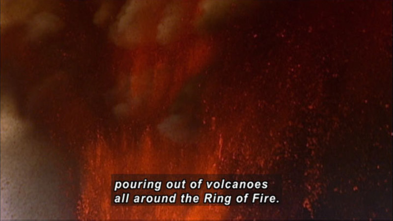 Still image from How The Earth Was Made: The Ring Of Fire