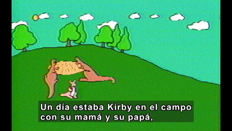 Still image from Short Stories For Children Series: Kirby Kangaroo (Spanish)