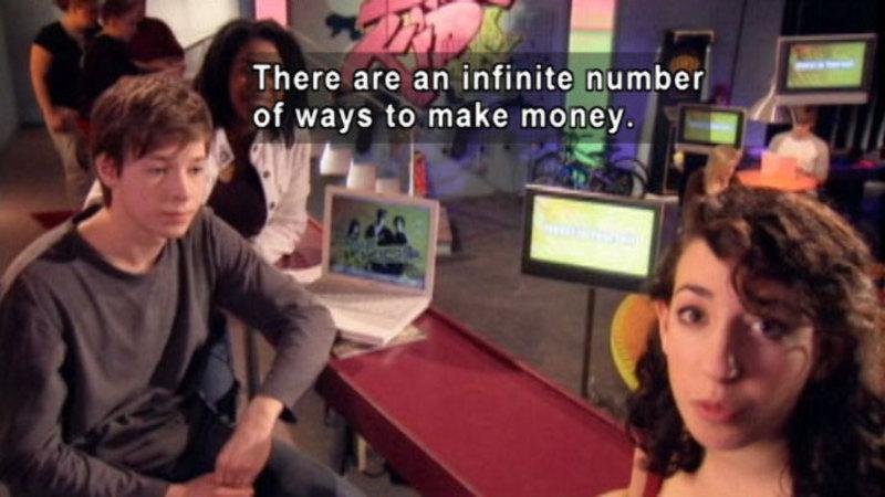 Still image from Biz Kid$: How Do You Get Money?