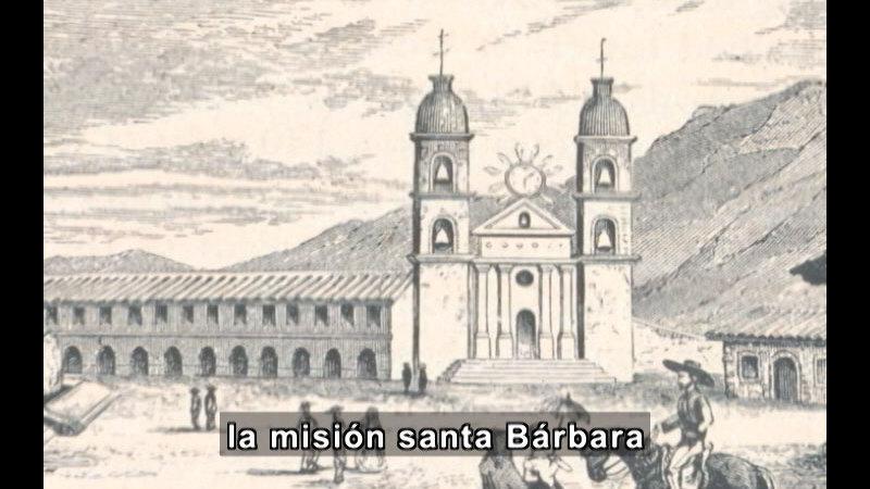 Still image from Missions Of California Series: Mission Santa Barbara (Spanish)