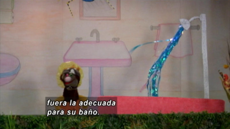 Still image from The Parakeet Show – Water (Spanish)
