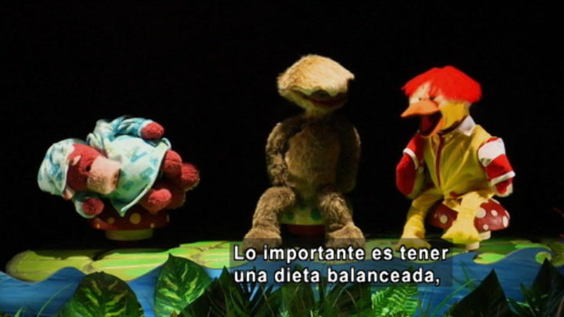 Still image from The Parakeet Show- Nutrition (Spanish)