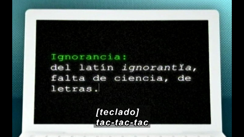 Still image from Vox Populi-Ignorance (Spanish)