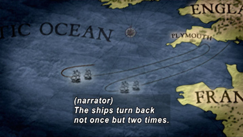 Still image from Desperate Crossing: The Untold Story Of The Mayflower