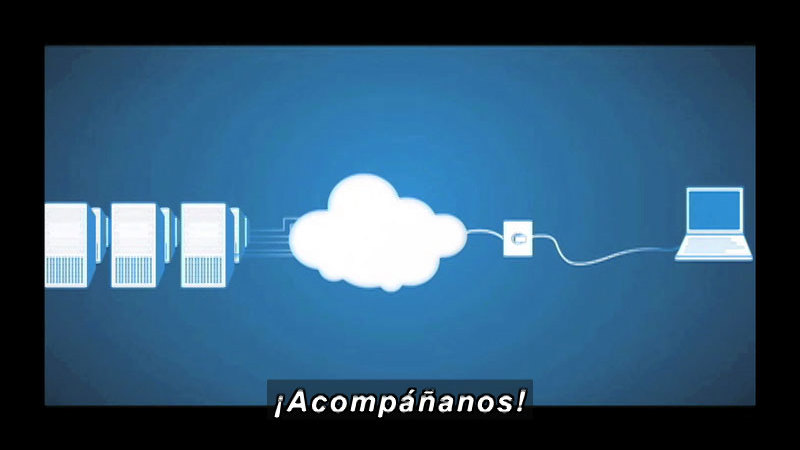 Still image from Science And Technology-Computing In The Cloud  (Spanish)