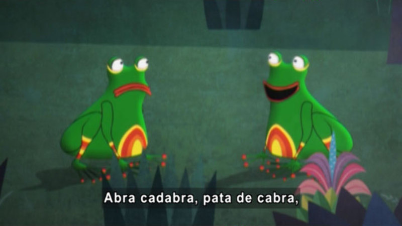 Still image from Medialuna And The Magic Nights: The Magic Toad (Spanish)