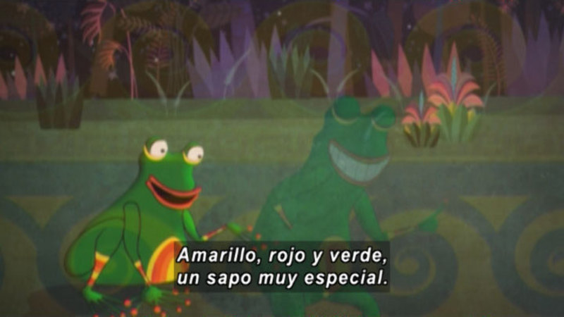 Still image from Medialuna And The Magic Nights: The Frog In Love (Spanish)