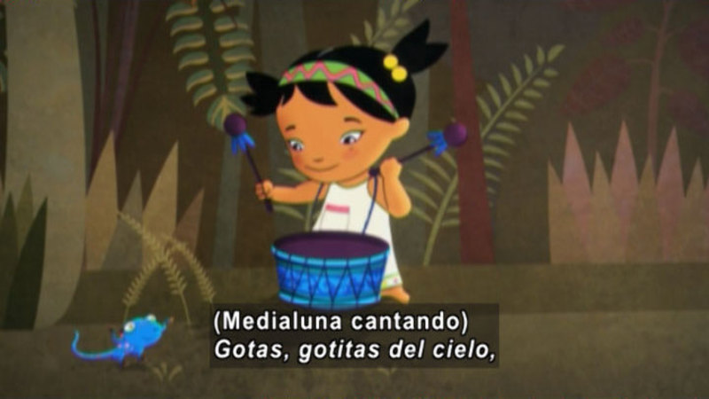 Still image from Medialuna And The Magic Nights: The Rain Drum (Spanish)