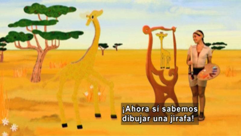 Still image from Animapaka: Giraffe (Spanish)