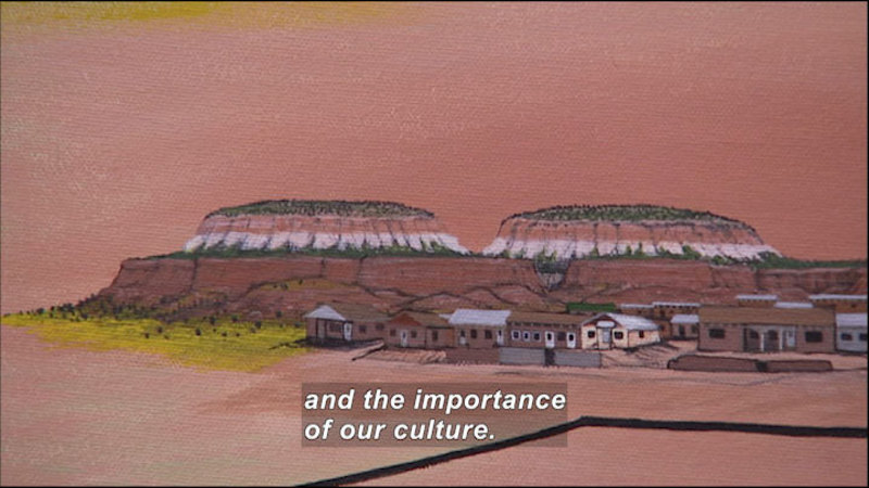 Still image from Wild Chronicles: Zuni Art Map Project