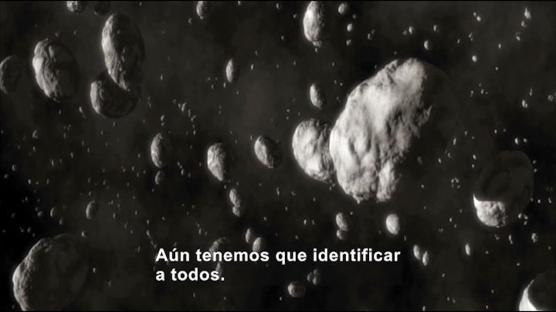 Still image from Science Video Vocab: Asteroid (Spanish)