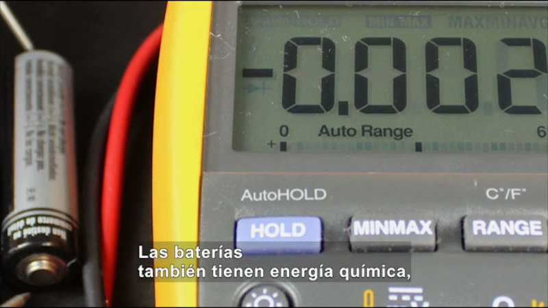 Still image from Science Video Vocab: Energy (Spanish)