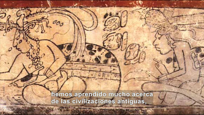 Still image from Social Studies Video Vocab: Hieroglyphics (Spanish)