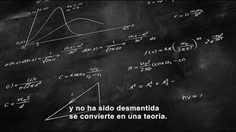 Still image from Science Video Vocab: Scientific Theory (Spanish)