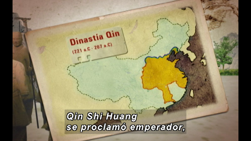 Still image from The Time Compass: Ancient China (Spanish)