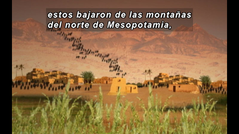 Still image from The Time Compass: Mesopotamia (Spanish)