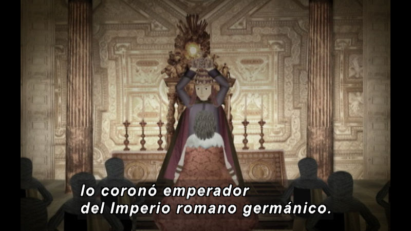 Still image from The Time Compass: The Carolingian Empire (Spanish)