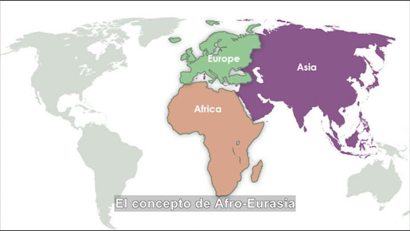 Still image from Social Studies Video Vocab: Afro-Eurasia (Spanish)