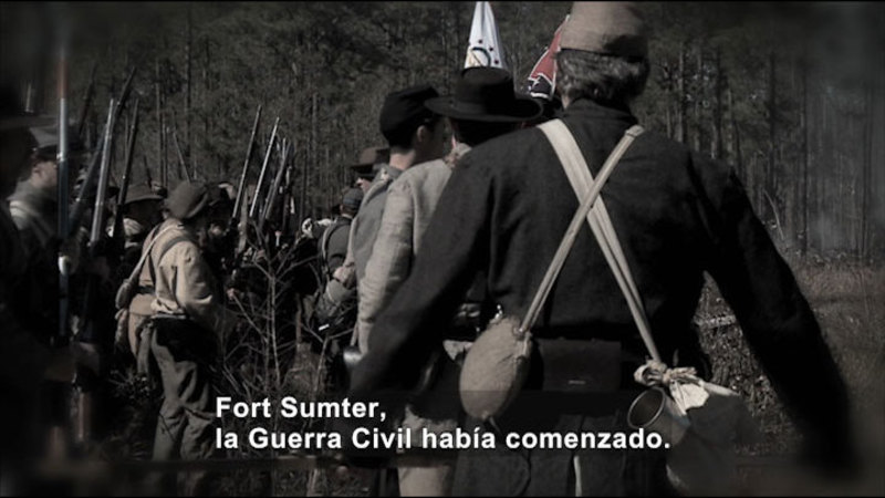Still image from Social Studies Video Vocab: Civil War (Spanish)