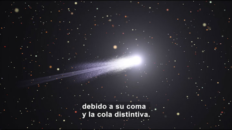 Still image from Science Video Vocab: Comet (Spanish)