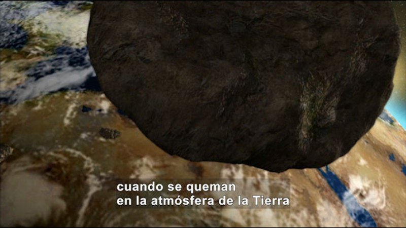 Still image from Science Video Vocab: Meteor (Spanish)