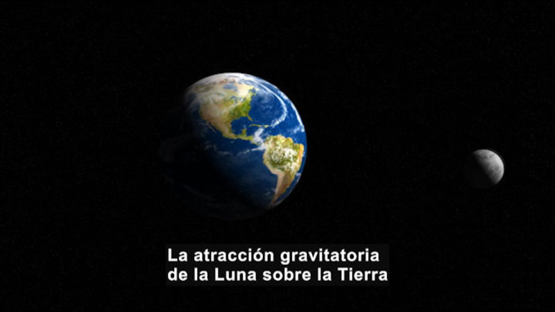 Still image from Science Video Vocab: Moon (Spanish)