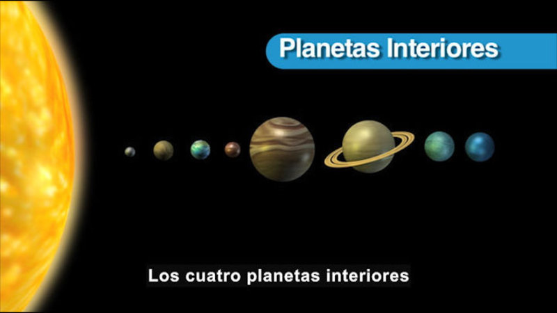 Still image from Science Video Vocab: Planet (Spanish)