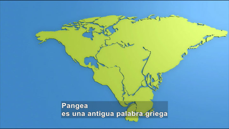 Still image from Science Video Vocab: Pangaea (Spanish)