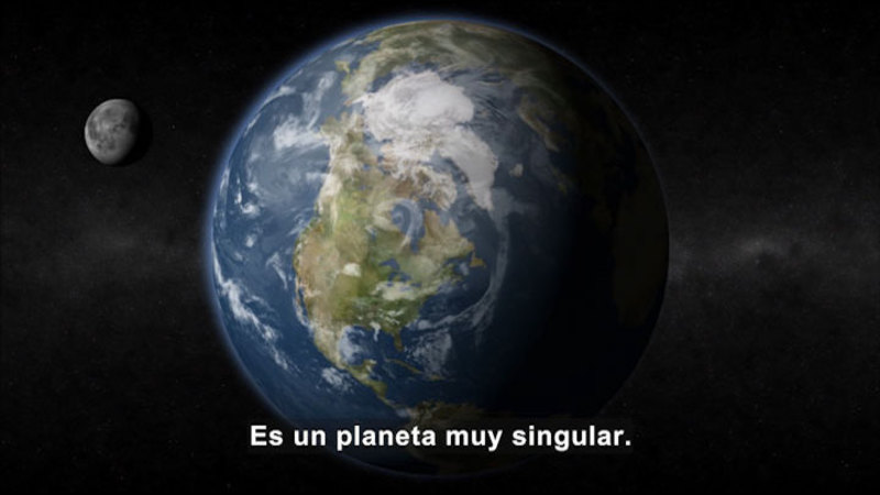 Still image from Science Video Vocab: Earth (Spanish)