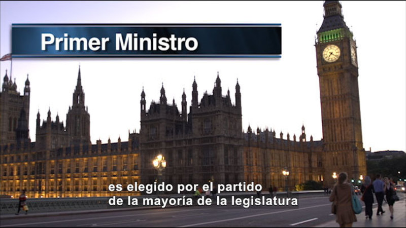 Still image from Social Studies Video Vocab: Parliamentary Government (Spanish)
