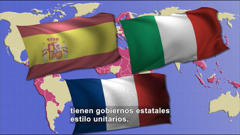 Still image from Social Studies Video Vocab: Unitary Government (Spanish)