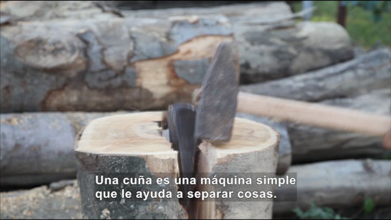 Still image from Science Video Vocab: Wedge (Spanish)