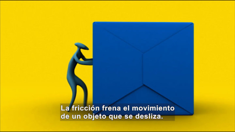 Still image from Science Video Vocab: Friction (Spanish)