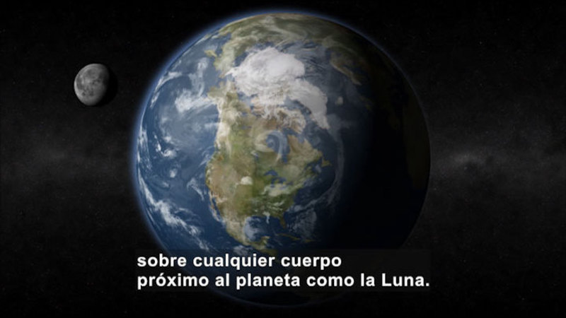 Still image from Science Video Vocab: Gravitational Force (Spanish)