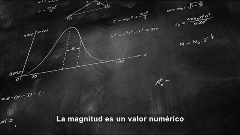 Still image from Science Video Vocab: Scalars (Spanish)