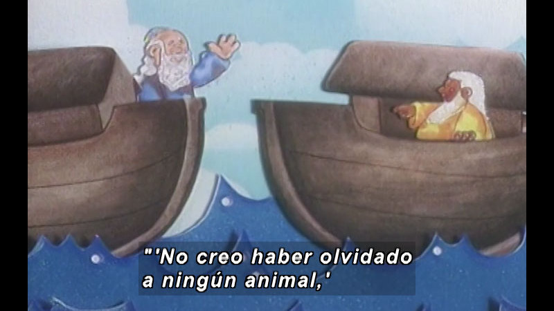 Still image from Kool Books: He Was Not The Only Noah (Spanish)