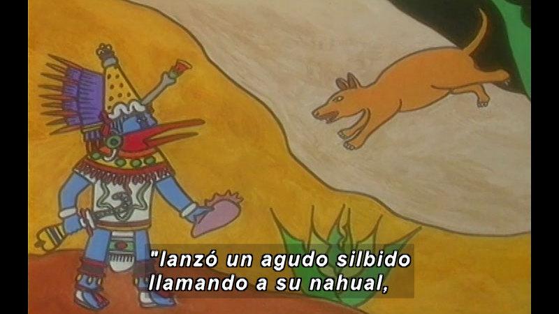 Still image from Kool Books: Ehécatl Quetzalcóatl And The New Men (Spanish)