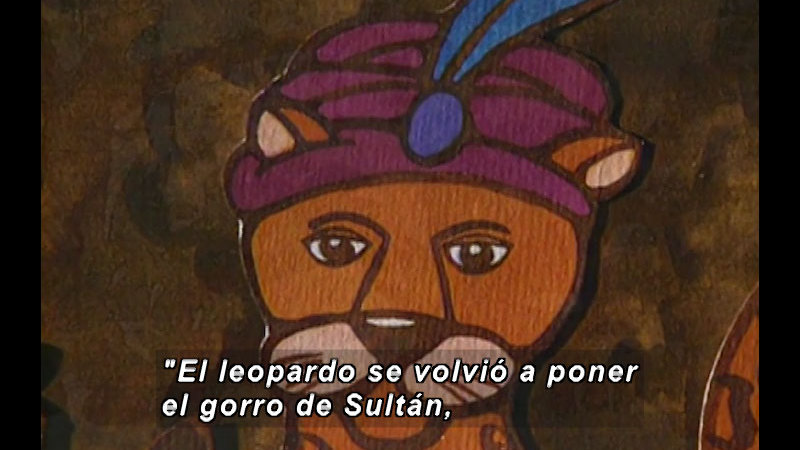 Still image from Kool Books: The Lion King And The Leopard (Spanish)