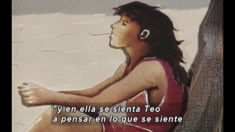 Still image from Kool Books: Teófila, The Shark Girl (Spanish)
