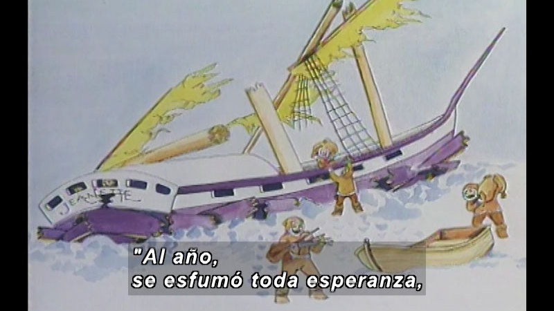 Still image from Kool Books: Voyages To The North Pole (Spanish)