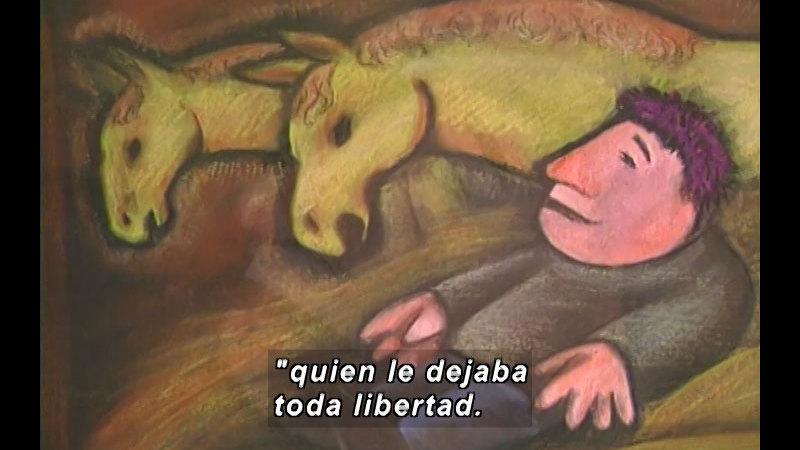 Still image from Kool Books: The Little Humpbacked Horse (Spanish)