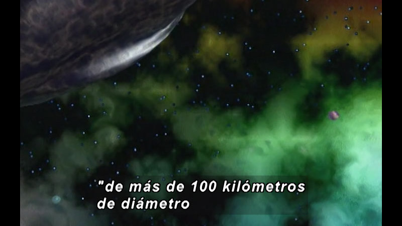 Still image from Kool Books: Saturn's Moons (Spanish)