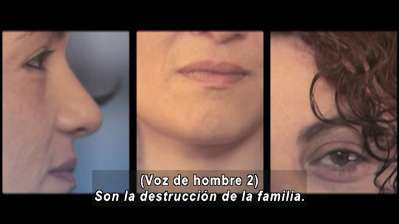 Still image from Don't Let Prejudices Talk For You: Family Diversity (Spanish)