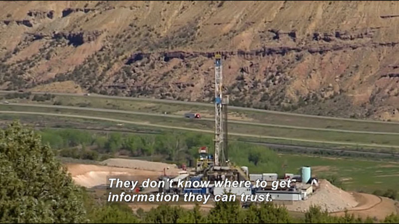 Still image from Science Nation: Hydraulic Fracturing--Using Scientific Methods to Evaluate Trade-Offs