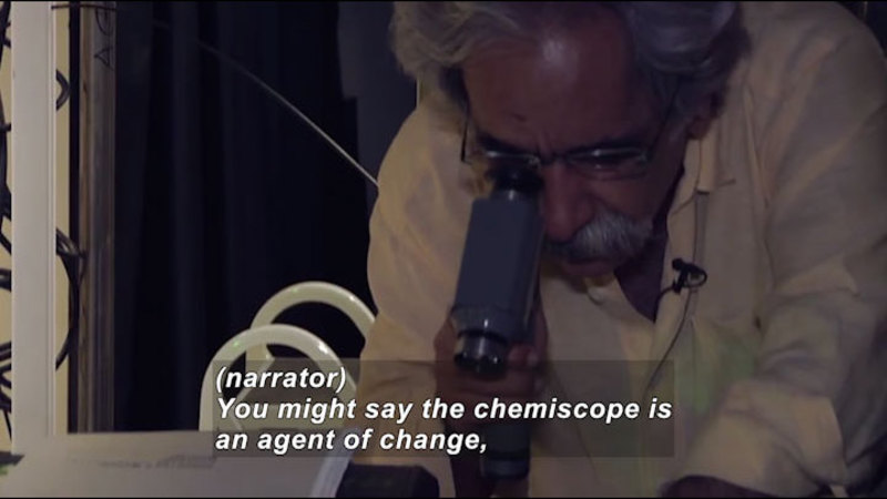 Still image from Science Nation: Chemiscope to Catch Chemistry in the Act