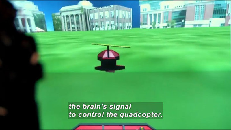 Still image from Science Nation: Mind-Controlled Quadcopter Demonstrates New Possibilities for People Who Are Paralyzed