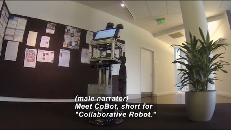 Still image from Science Nation: New CoBots Are Help on Wheels