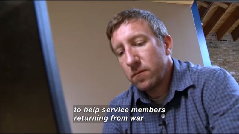 Still image from Science Nation: VetsPrevail Helps Veterans Transition From War
