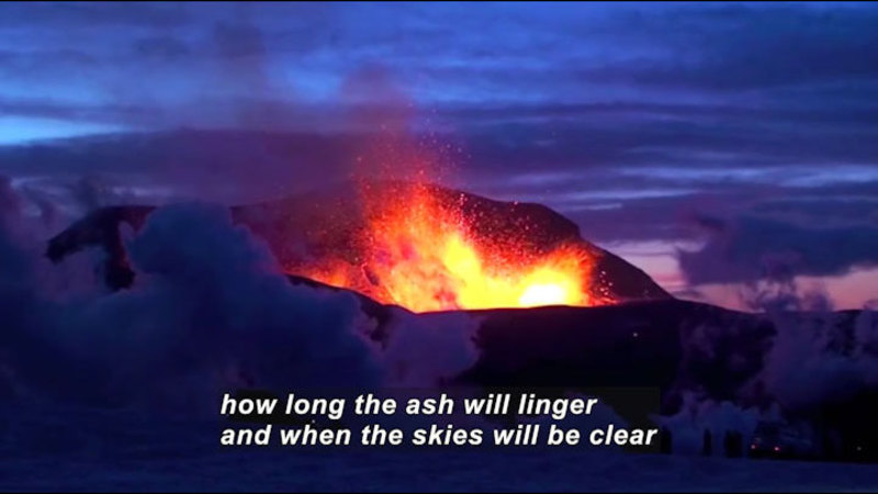 Still image from Science Nation: Damaging Volcanic Ash Stays Well Beyond Welcome